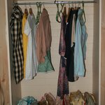 The wardrobe in the family room after I scrubbed it.