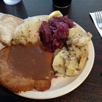 lite portion of Wiener schnitzel plate