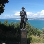 Captain Cook statue overlooking Gisborne