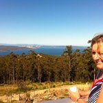                    Dianne enjoying the vista from the main accommodation area