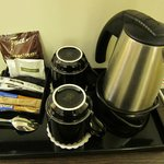 complimentary coffee/tea and hot chocolate