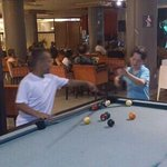                                                        Kids playing pool at Showtime
