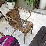                    patio - broken chairs