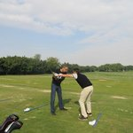  Golf lessons in driving range