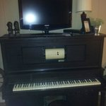 Player piano in parlor