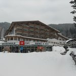                    Front view of the hotel in Feb 2013