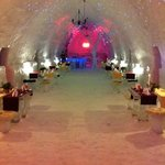                    the restaurant and bedrooms at the ice hotel