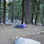 area for tents or in our case sleeping bags