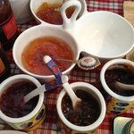 Anne's homemade jams at breakfast