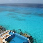 Incredible clear water for snorkeling right at condo
