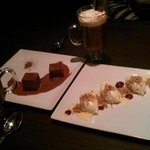 dessert! 'grown up cocoa' cheesecake and c