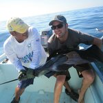 Sailfish on our second day out with Jesus.....this guy didn't want to hold sti