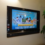                    At the reception desk is this touch screen t.v. for finding info. on local att