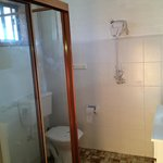 Large clean bathroom with great water pressure.