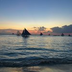                                      Sunset in Boracay:  amazing!