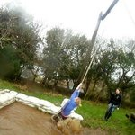                                      Swing on assault course