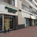                    Starbucks on corner can be accessed from street or directly from inside hotel 