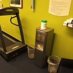 why are there two trashcans in exercise room?