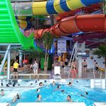 Indoor pool and water slides