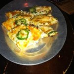 rock shrimp and crab with pepper jack cheese and jalapeno nachos!  yummy!!