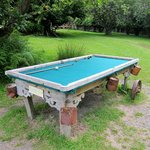 outdoor pool table @ Stony Bay
