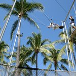                    Trapeze, one of the most popular activities for the kids