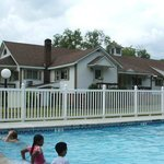                    View of motel from pool