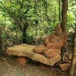  One of the many sculptures on the property&#39;s rainforest walking trails