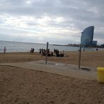                    Barcelona beach
