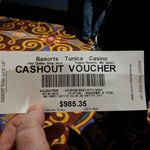                    Winning voucher at Resorts Tunica