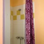  the shower in a private double room