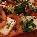 beautiful buffalo mozzarella in a scrumptious salad