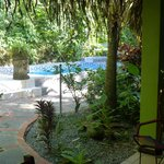  View of pool area from #4 -- tropical privacy!