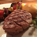 Mesquite Grilled Filet Mignon with Grilled Vegetable Skewer