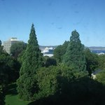                    View from room 411, across park to harbour.