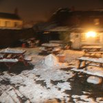  Beer Garden covered in snow