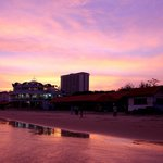 Beautiful sunset at Vung Tau Beach