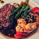 Five Star meal - surf and turf.