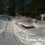 Our sled access from Halls Lake up to the cottage.