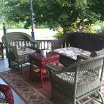 Sitting area on wraparound porch