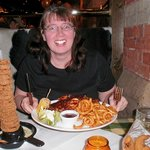 Diane Cox enjoying dining at the Smith & Western Hotel, Royal Tunbridge Wells
