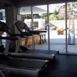  Fitness Center overlooking pool