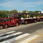                                      The little road train that stops outside of the hotel and on