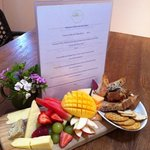                    cheese &amp; fruit platter