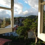                    The view from one of our windows in our room at Ivanhoe&#39;s Guest House in Port 