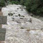                    The raging Urubamba River from our room.