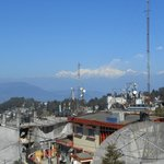 view from the roof towards Kangchenjunga