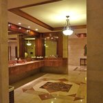                    Melia does things grand--this is men&#39;s room off lobby.  Wow.