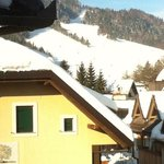                    View from bedroom over ski slopes