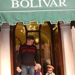 The entrance of Hotel Bolivar